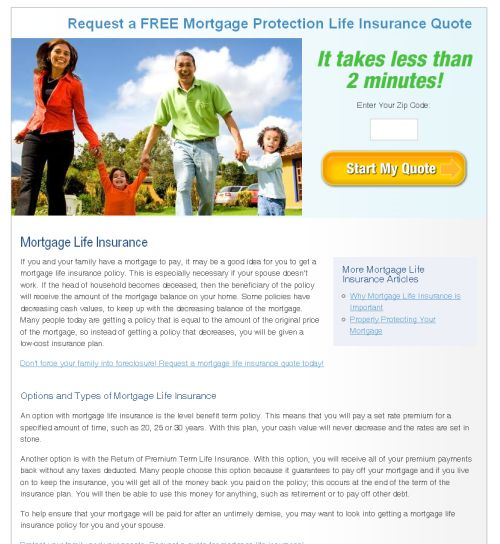 should you buy mortgage protection or term life insurance