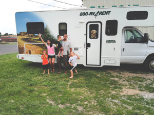 renting an rv with rose family